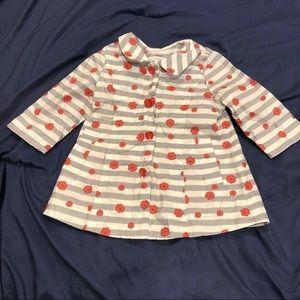 Little Marc Jacobs Rain Jacket Floral Stripe Coat